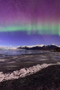 Northern Lights Aurora Glacier Landscape 4k