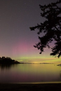 Northern Lights Lake Night Sky 5k