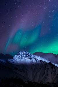 1440x2560 Northern Lights Night Sky Mountains Landscape 4k