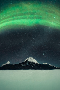 480x854 Northern Lights Over Mountain 5k