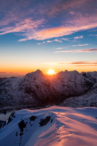 240x320 Norway Lofoten Mountains 5k