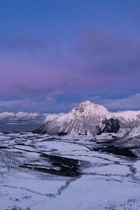 640x960 Norway Lofoten Mountains Snow 5k