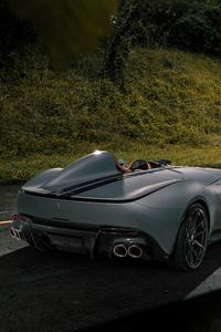 1242x2688 Novitec Ferrari Monza SP1 2020 Rear 8k