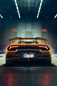 Novitec Lamborghi Huracan Perfomante 2018 Rear Lights 4k