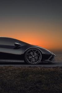1280x2120 Novitec Lamborghini Huracan Evo Side View 10k
