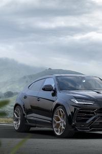 320x568 Novitec Lamborghini Urus Esteso 2019 Black