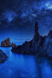 Ocean Rocks Blue Sky