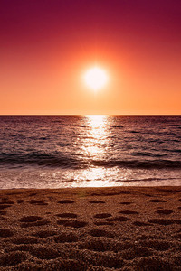 Ocean Sand Sunset