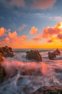 480x854 Ocean Sunset 8k