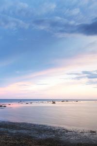 320x480 Ocean Sunset Dusk 4k