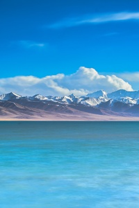 1080x2160 Ocean View Mountains 5k
