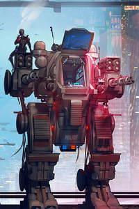 320x480 Off Duty Scifi Robo