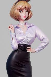 320x568 Office Intern Anime Girl