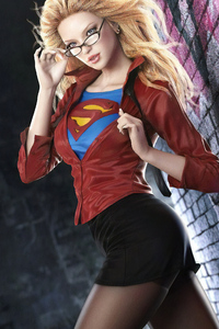 640x1136 Office Supergirl
