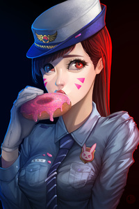 1080x1920 Officer Dva Donut