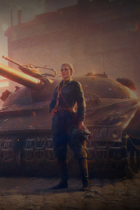 480x854 Officer Girl With Tank