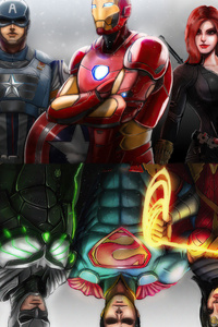 720x1280 Old And New Avengers And Justice League
