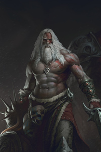 480x854 Old Beard Man With Sword Warrior