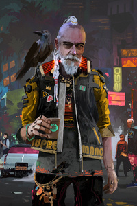 800x1280 Old People Of Cyberpunk 2077 4k