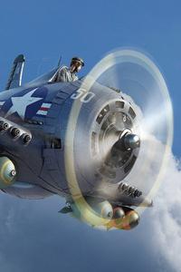 1440x2560 Old Vintage Usa Jet 4k