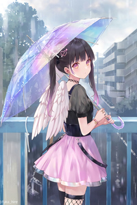 640x1136 Open Your Umbrella And Close Your Wings 5k