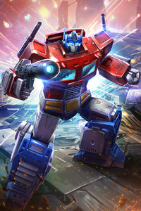 1280x2120 Optimus Prime In Transformers Art