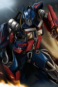 1280x2120 Optimus Prime Painting 4k