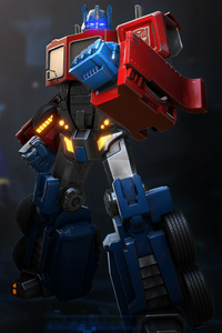 1280x2120 Optimus Prime Transformers Forged To Fight