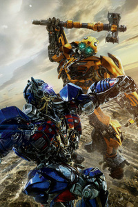 320x480 Optimus Prime VS Bumblebbe Transformers The Last Knight