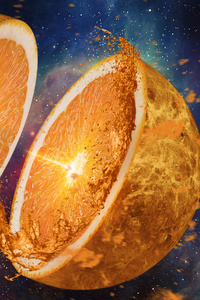 800x1280 Orange Artistic