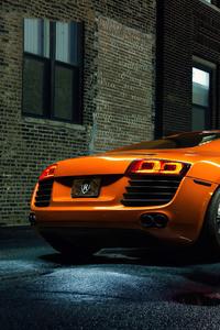 1080x2160 Orange Audi R8 4k
