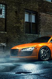 1080x2160 Orange Audi R8