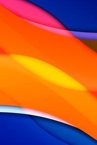 1080x1920 Orange Blue Mango Abstract 8k