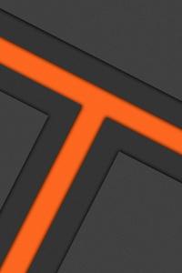 Orange Burning Dark Shape Abstract 5k