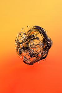Orange Circle Glass Justin Maller