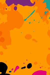 Orange Colour Splashes 8k