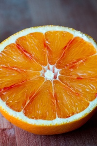 Orange Cut On The Table