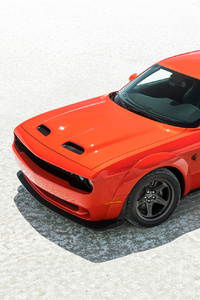 320x480 Orange Dodge Challenger Srt 4k