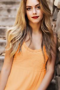 Orange Dress Model