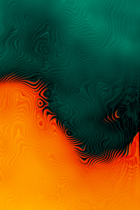 Orange Green Abstract 4k