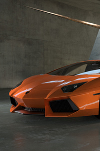 Orange Lamborghini 5k