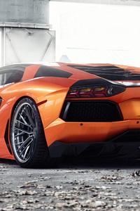 Orange Lamborghini Aventador 5k