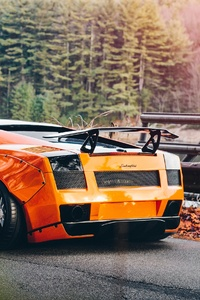 360x640 Orange Lamborghini Gallardo 4k