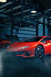 Orange Lamborghini Huracan 4k 2020