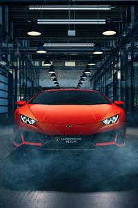 Orange Lamborghini Huracan 4k New