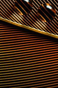 240x320 Orange Leaves Macro Water Drops 4k