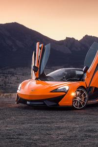 1080x2160 Orange Mclaren 4k