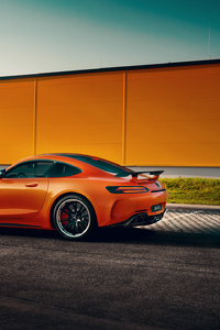 Orange Mercedes Benz Amg GT Rear