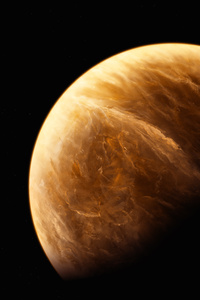 1280x2120 Orange Planet 5k