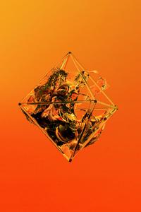 Orange Polygon Glass Justin Maller